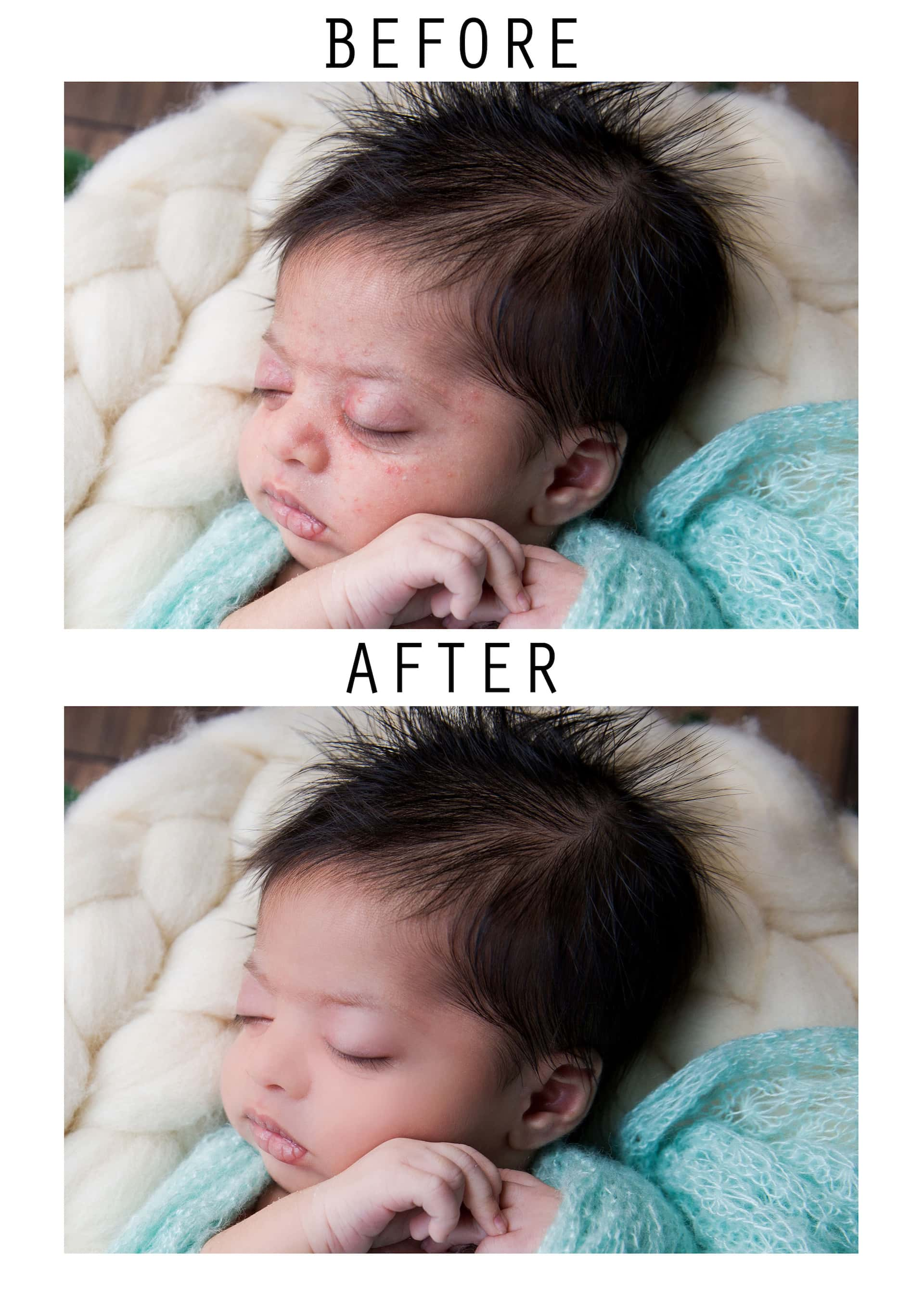 baby boy newborn photography post production