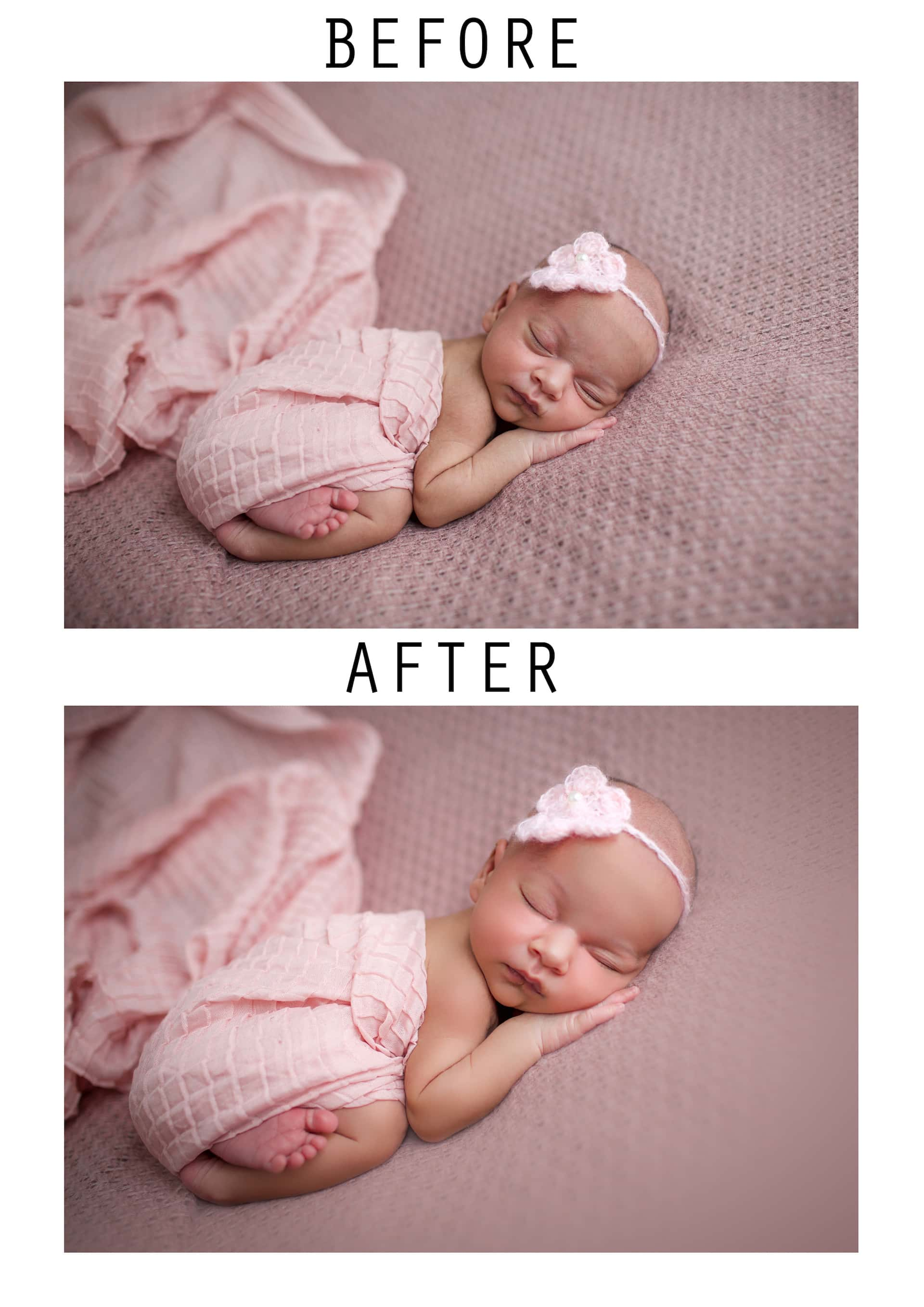 newborn baby girl photography editing