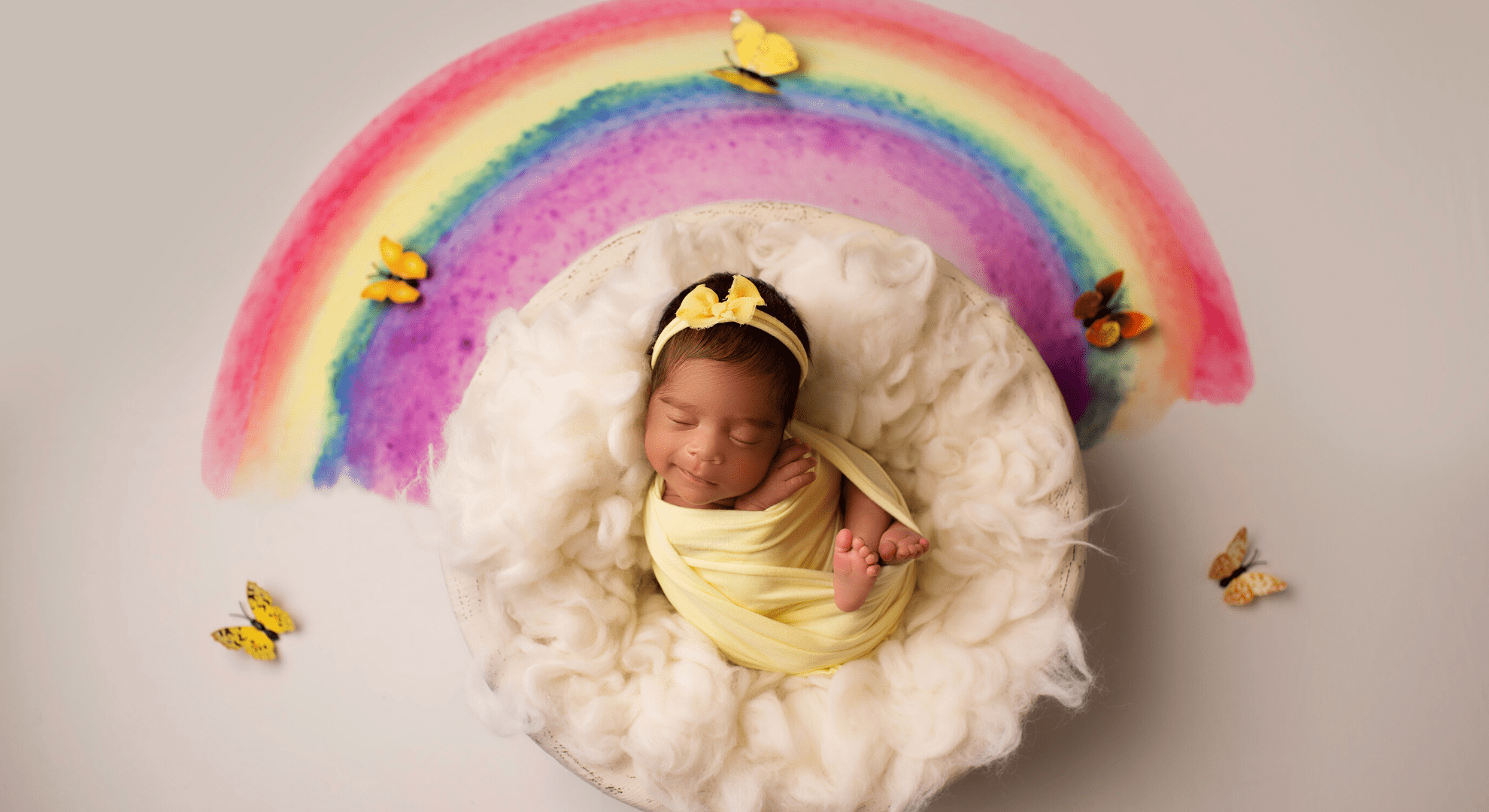 Rainbow Baby Newborn Photography