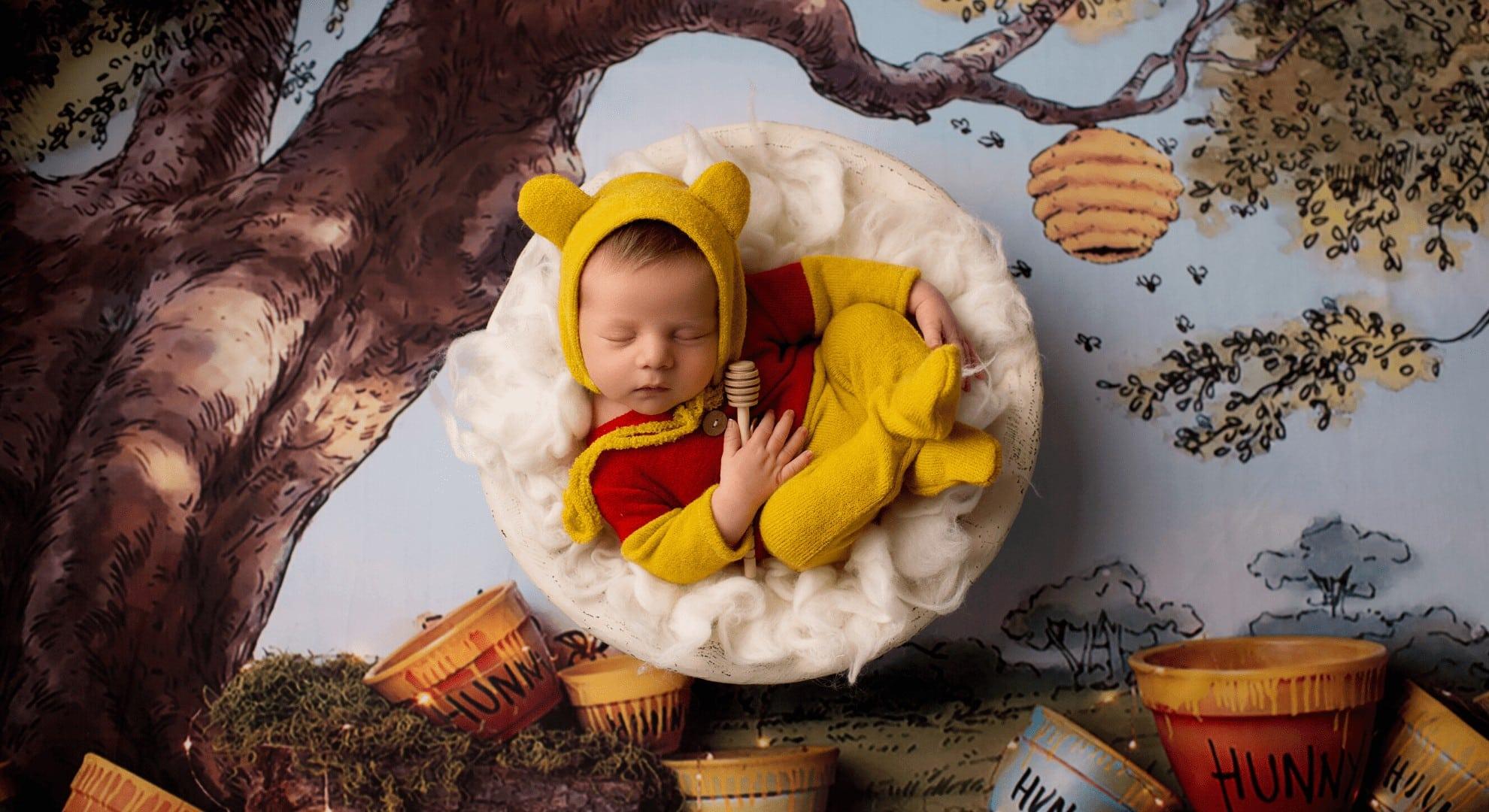 Winnie the Pooh Newborn Photography